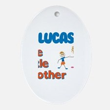 Lucas - The Little Brother Oval Ornament