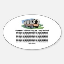 Pioneer Children Walked Oval Decal