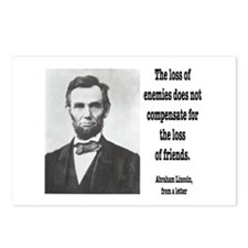 Cute Lincoln quote Postcards (Package of 8)