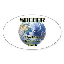 Soccer Earth Oval Decal