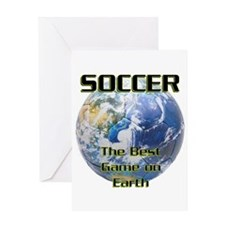Soccer Earth Greeting Card