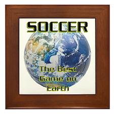 Soccer Earth Framed Tile