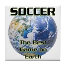 Soccer Earth Tile Coaster