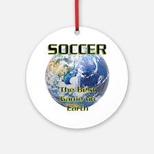 Soccer Earth Ornament (Round)