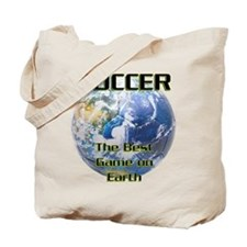 Soccer Earth Tote Bag