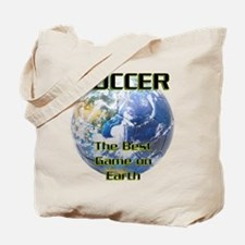 Soccer Earth Tote Bag