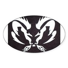 Ram Sign Oval Decal