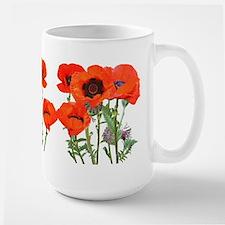 Red Poppies Large Mug