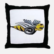Neon Bee Throw Pillow
