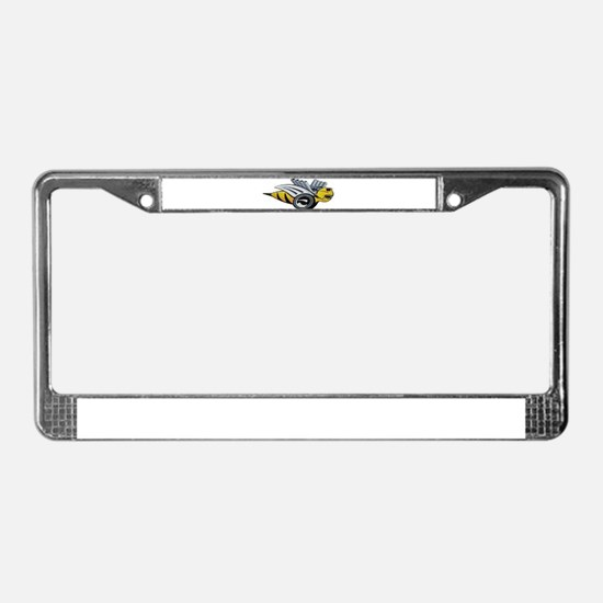Neon Bee License Plate Frame