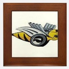 Neon Bee Framed Tile