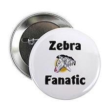 "Zebra Fanatic 2.25"" Button"
