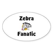 Zebra Fanatic Oval Decal