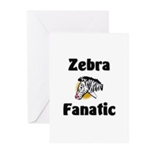 Zebra Fanatic Greeting Cards (Pk of 10)