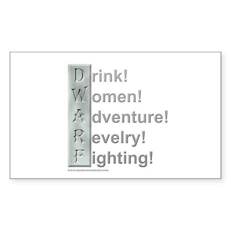 D.W.A.R.F. (Pro) Rectangle Sticker