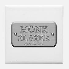 Brushed Steel - Monk Slayer Tile Coaster
