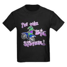 MX Big Sister Kids Black TShirt