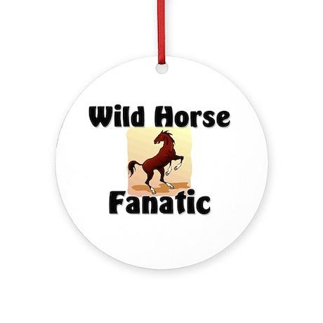 Wild Horse Fanatic Ornament (Round)