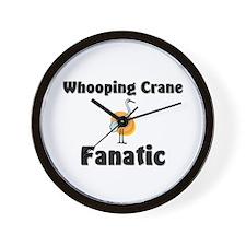 Whooping Crane Fanatic Wall Clock