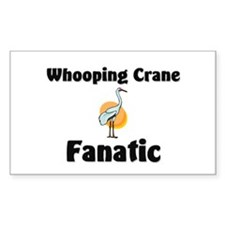 Whooping Crane Fanatic Rectangle Decal