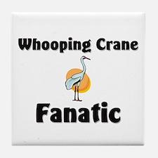 Whooping Crane Fanatic Tile Coaster