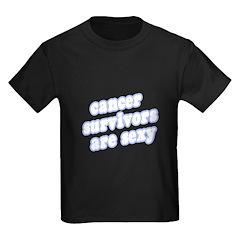"""""""Cancer Survivors Are Sexy"""" Kids Dark T-Shirt"""