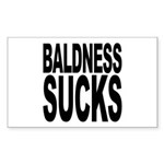 Baldness Sucks Rectangle Sticker