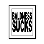 Baldness Sucks Framed Panel Print