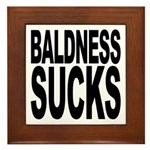 Baldness Sucks Framed Tile