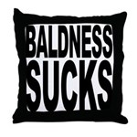Baldness Sucks Throw Pillow