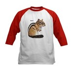 Ground Squirrel Chipmunk (Front) Kids Baseball Jer