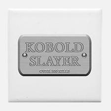 Brushed Steel - Kobold Slayer Tile Coaster