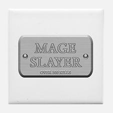 Brushed Steel - Mage Slayer Tile Coaster