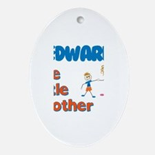 Edward - The Little Brother Oval Ornament