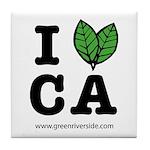 I Love CA - Tile Coaster