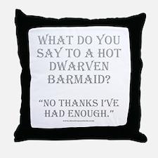 Dwarven Barmaid Throw Pillow