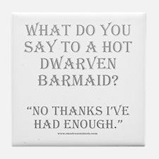 Dwarven Barmaid Tile Coaster