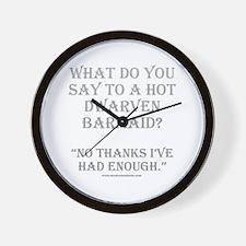 Dwarven Barmaid Wall Clock