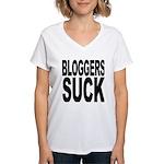 Bloggers Suck Women's V-Neck T-Shirt