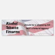shopping list Bumper Bumper Bumper Sticker
