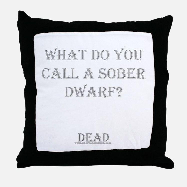 Sober Dwarf Throw Pillow