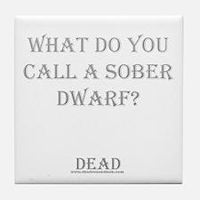 Sober Dwarf Tile Coaster