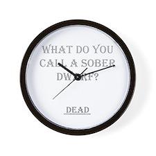 Sober Dwarf Wall Clock