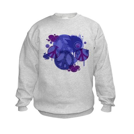 Vintage Peace Graphic Kids Sweatshirt
