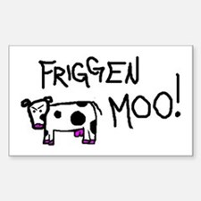 Mad Cow Rectangle Decal