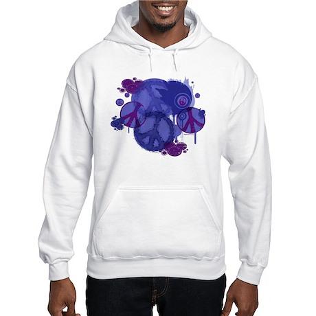 Vintage Peace Graphic Hooded Sweatshirt
