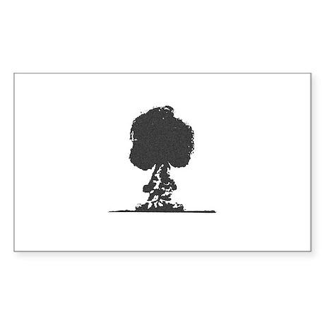 Mushroom Cloud Rectangle Sticker