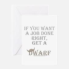 Dwarven Job Greeting Card