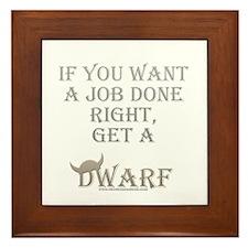 Dwarven Job Framed Tile