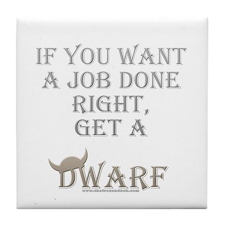 Dwarven Job Tile Coaster